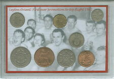 Leyton Orient leytonstone CLAPTON vintage promozione retrò Coin Fan Regalo Set 1962