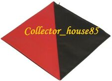 Sofa Square Cushion Pillow Cover Red Black Lambskin Leather Decor Set All Size 9
