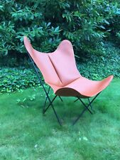 LEATHER Hardoy AA Butterfly Chair, Airborne France - The Original Since Knoll