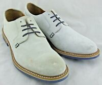 201698 MS50 Men's Shoes Size 8 M Off White Suede Lace Up Johnston & Murphy
