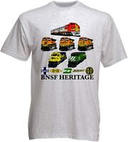 BNSF Heritage II Authentic Railroad T-Shirt Funny Vintage Gift Men Women