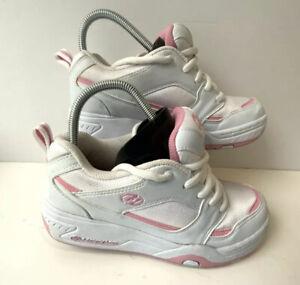 Heelys Girls wheeled skate shoes Trainers white and pink Size  UK 5 EU 38 US 6