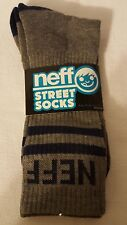 NEFF New World Men's Crew Street Socks - Charcoal and Navy - NWT