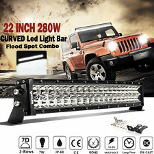 "PHILIPS 22INCH 280W LED CURVED LIGHT BAR OFFROAD SUV ATV CAR PK 20"" 24"" 25"" 7/12"
