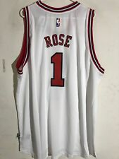 Adidas Swingman 2015-16 NBA Jersey Chicago Bulls Derrick Rose White sz 4X 7075ebe9d