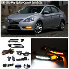 For Nissan Sentra Sylphy 2013-2015 Bumper Fog Lamp+LED DRL+Switch Wiring j Kit