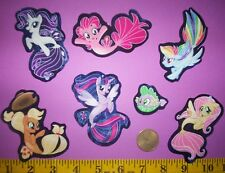 New! Cool! My Little Pony The Movie Mermaid Iron-on Fabric Appliques