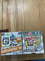 1 Optic 1 Mosaic NFL MEGA box lot 2020 2021 Panini Football free Ship Herbert