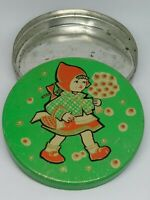Vintage Soviet Empty Candy Tin Box - Red Riding Hood, USSR, 1960-1970s