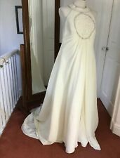 Grecian Style Wedding dress size 16 pre owned