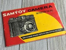 Vintage Samtoy Camera Instruction Manual Guide