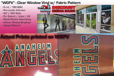 "See-Through Window Graphic Vinyl - FABRIC Pattern - 54""x164' - ""WGFV"""