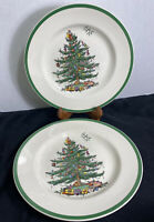 "SET OF 2 ~ Spode Christmas Tree Holiday 10.5"" Dinner Plates"