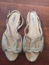 Silver Gold Grecian Flat Sandals L K Bennett Eu 40 Uk 6.5 6