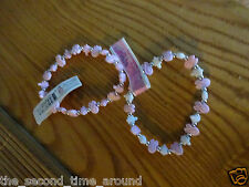 Breast Cancer AWARENESS -Bracelets lot of 2 one pink/white 1 pink heart turtle