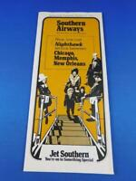 SOUTHERN AIRLINES SYSTEM WIDE SCHEDULE TIMETABLE JET SOUTHERN OCTOBER 1971