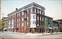 1910 Postcard: Main & Albany Street - Herkimer, New York NY