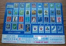 Japan Postal Rate Card circa 1980 postal Service Collectible