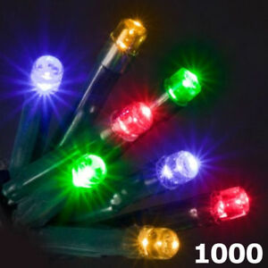 1000 LED Super Bright Multicoloured Christmas Chaser Light 8 Mode Indoor Outdoor