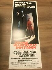 Strange Shadows Empty Room Movie Insert Original Vintage Poster 1977 14 x36 MINT