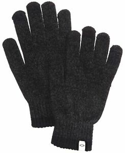 Alfani Men's Winter Gloves Charcoal Gray One Size Space Dye Ribbed $32 #358