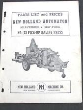 1952 New Holland N º . 75 Comer por Sí Solos Autoatado Embalar Parts Catalog