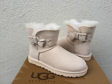 UGG JACKEE FRESH SNOW SWAROVSKI BLING BOW SHEEPSKIN BOOTS, US 10/ EUR 41 ~NIB