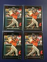 2007 Topps # 113 NICK MARKAKIS ALL STAR ROOKIE Lot 4 Baltimore Orioles GOLD CUP