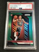 TRAE YOUNG 2018 PANINI PRIZM #78 GREEN CHROME REFRACTOR ROOKIE RC PSA 10