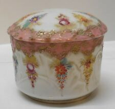 Asian Lidded Bowl Trinket Box Jewelry Holder Makers Mark Antique