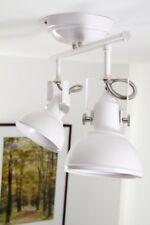 2 spots sur rail Lampe suspension Lustre Métal blanc Plafonnier Luminaire 74037