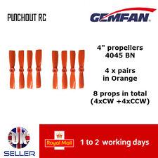 "Gemfan Propellers Quad Props 4"" 4045 BN x8 4 Pairs Orange Bullnose 180 FPV  UK"