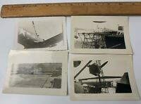 Lot of 4 WWII Photos US Navy Aircraft Plane Catalina PBY Fighter Repairs Pilot