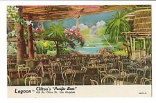 Vintage Postcard Los Angeles CA Lagoon Clifton's Pacific Seas So. Olive Street