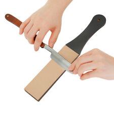 4.5cm Wide Leather Sharpening Strop Coarse Fine 2Sided Polishing Paste For Razor