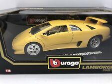 1/18 Bburago Yellow 1990 Lamborghini Diablo JM Part # 3041