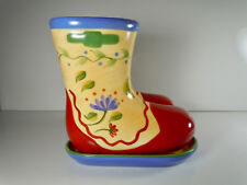 Pfaltzgraff Napoli Planter Boots and Under plate 6""