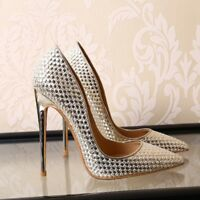 Chic Lady Womens Pointy Toe Woven Pumps High Heels Party Date Stilettos Shoes SZ