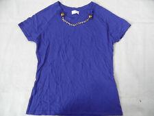 Damen Strick Pullover Shirt Pulli langarm royalblau Rundhals Gr 50 56 NEU R69