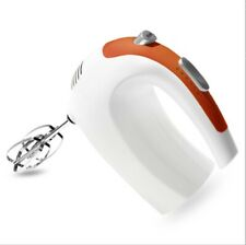 White 5 Speed Electric Hand Mixer Handheld Eggs Milk Frother Whisk With Stirrer