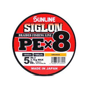 Sale Sunline Siglon Braided Line X8 1800M P.E 0.3 5LB Orange (3094)