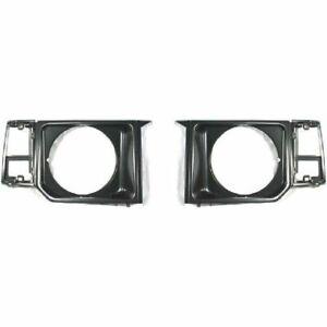 New Set OF 2 LH & RH Side Black Head Lamp Door Fits Mitsubishi Montero