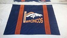 "Vintage Polyester NFL Jersey Pillowcase Denver Broncos Football Team 30' x 24"""