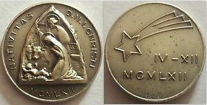 MEDAGLIA NATIVITAS D.N.I. CHRISTI 1962-ARGENTO 800 PESO gr. 8 circa