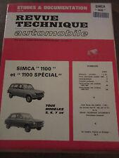Revue Technique Automobile Simca 1100 & 1100 spécial, tous les modèles 5,6, 7 cv