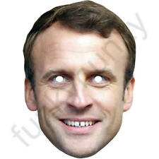Emmanuel Macron Politician Celebrity Card Mask - All Our Masks Are Pre-Cut!