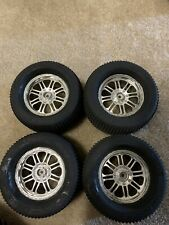 4Pcs 1:8 Rc Tires Tyre Wheels For Off Road Racing Car Truck Black Silver 17mm