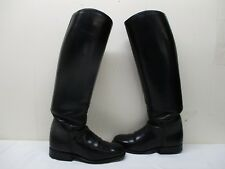 Cavallo Black Leather Pull On Riding Boots Womens