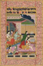 Radha Krishna Ethnic Miniature Painting Handmade Indian Hindu History Folk Art