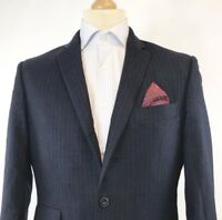 "Marks & Spencer Luxury Mens Pure Wool Suit Blazer Jacket Navy 38"" L Regular Fit"